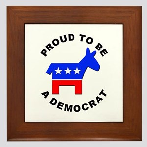 Proud Democrat Framed Tile