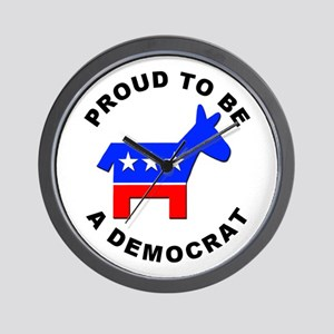 Proud Democrat Wall Clock
