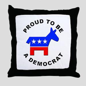 Proud Democrat Throw Pillow