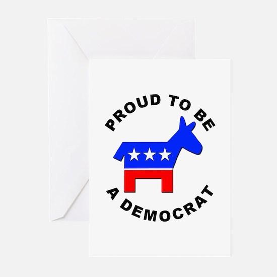 Proud Democrat Greeting Cards (Pk of 10)