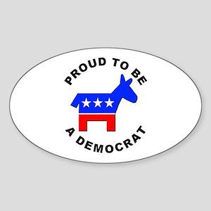 Proud Democrat Oval Sticker