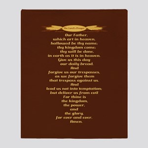The Lords Prayer Wheat Throw Blanket
