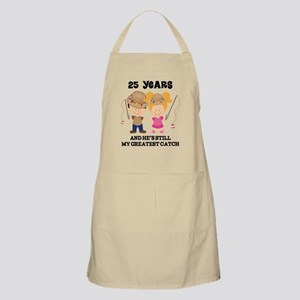 25th Anniversary Hes Greatest Catch Apron