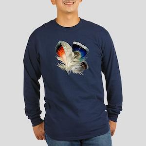 Feathers Long Sleeve Dark T-Shirt