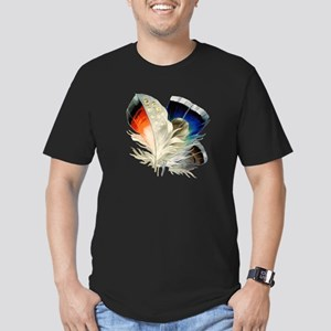 Feathers Men's Fitted T-Shirt (dark)