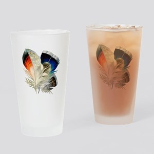 Feathers Drinking Glass