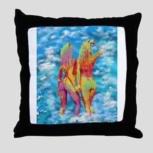 Warm Water Throw Pillow
