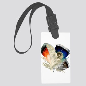 Feathers Large Luggage Tag