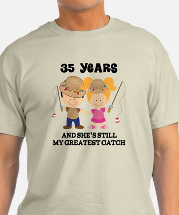 35th Anniversary Mens Fishing T Shirt