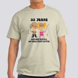 33rd Anniversary Mens Fishing Light T-Shirt