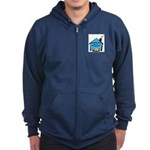 Forever Home Rescue logo-2 Zip Hoodie