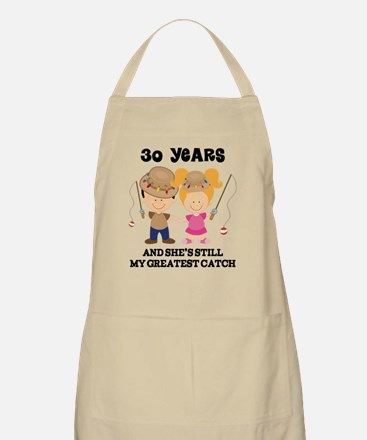 30th Anniversary Mens Fishing Apron
