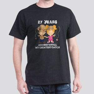 27th Anniversary Mens Fishing Dark T-Shirt