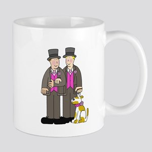 Two grooms and a dog. Small Mug