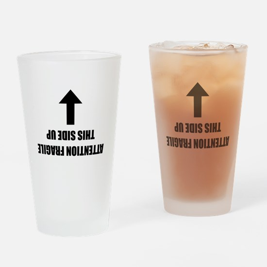 This side up Drinking Glass