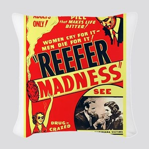 Reefer Madness Woven Throw Pillow