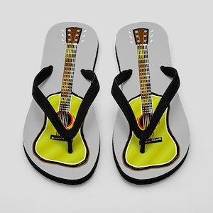 Acoustic Guitar Flip Flops - Gray