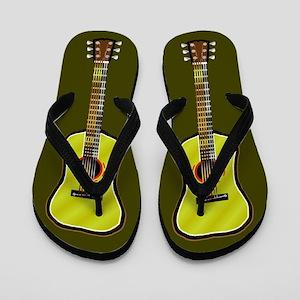 Acoustic Guitar Flip Flops - brown