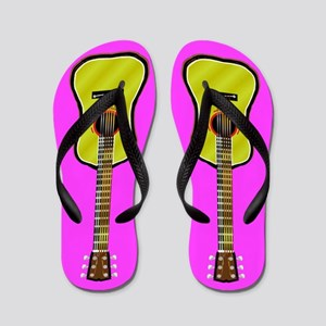 Acoustic Guitar Flip Flops - Pink