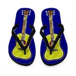 Acoustic Guitar Flip Flops - blue