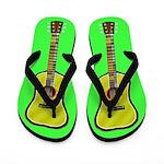 Acoustic Guitar Flip Flops (light green)