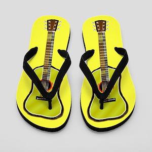 Acoustic Guitar Flip Flops (yellow)