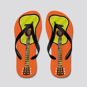 Acoustic Guitar Flip Flops (orange)