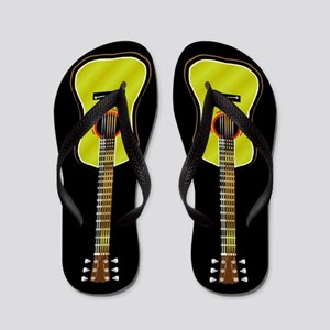 Acoustic Guitar Flip Flops (black)