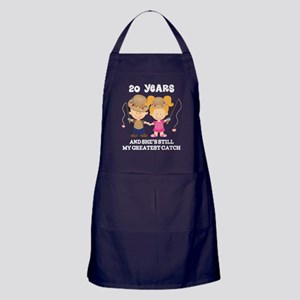 20th Anniversary Hes Greatest Catch Apron (dark)