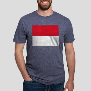 Flag of Monaco - Drapeau de Mens Tri-blend T-Shirt