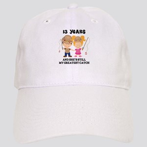 13th Anniversary Mens Fishing Cap