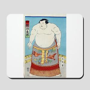 Sumo Wrestler Asashio Taro - anon - c1880 - woodcu