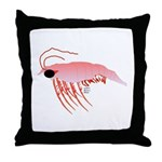 Pink Krill Throw Pillow
