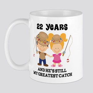 22nd Anniversary Hes Greatest Catch Mug