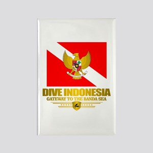 Dive Indonesia Rectangle Magnet