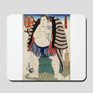 Sumo Wrestler Kagamiiwa of the West Side - Toyokun