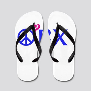 e8d72a0e0 Peace Love Swim Flip Flops - CafePress