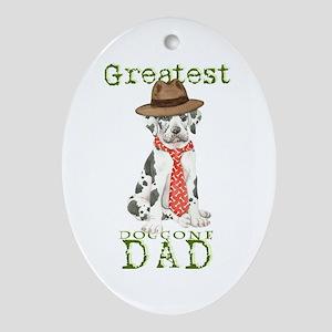 Great Dane Dad Ornament (Oval)