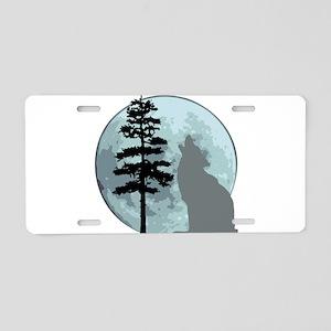 wolfmoongray Aluminum License Plate