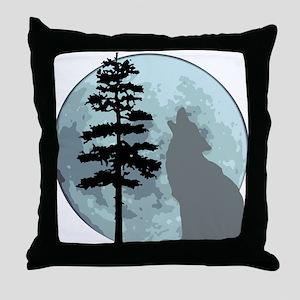 wolfmoongray Throw Pillow