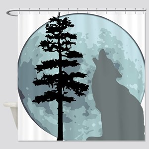 wolfmoongray Shower Curtain