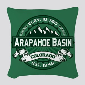 Arapahoe Basin Forest Woven Throw Pillow
