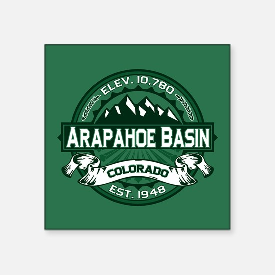 "Arapahoe Basin Forest Square Sticker 3"" x 3"""