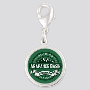 Arapahoe Basin Forest Silver Round Charm