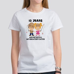13th Anniversary Hes Greatest Catch Women's T-Shir