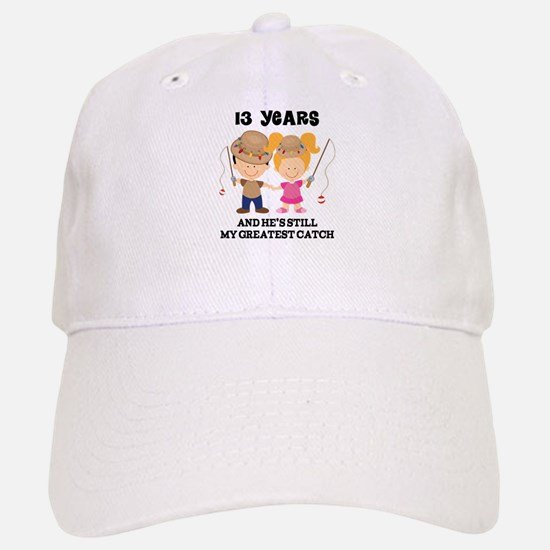 13th Anniversary Hes Greatest Catch Baseball Baseball Cap