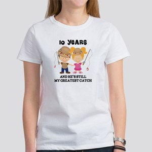 10th Anniversary Hes Greatest Catch Women's T-Shir