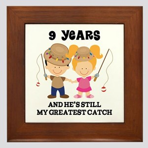 9th Anniversary Hes Greatest Catch Framed Tile