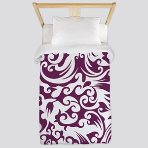 Alyssum & White Swirls #2 Twin Duvet