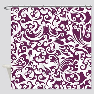 Alyssum & White Swirls #2 Shower Curtain
